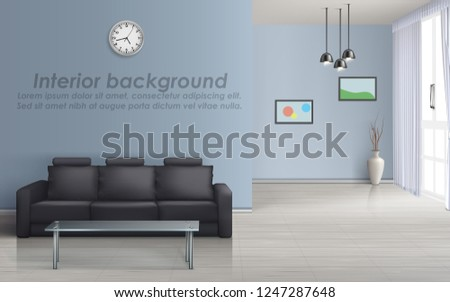 vector 3d mockup of empty