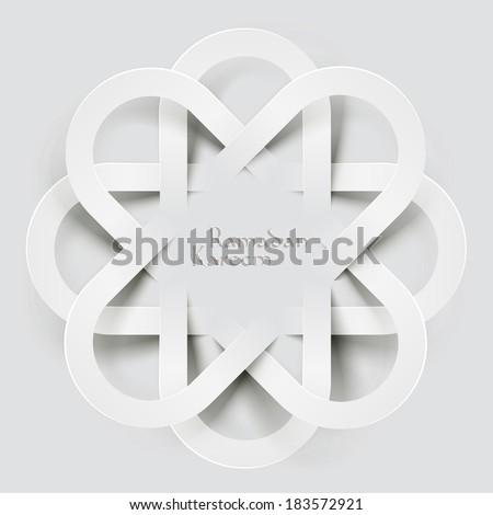 vector 3d muslim paper graphics