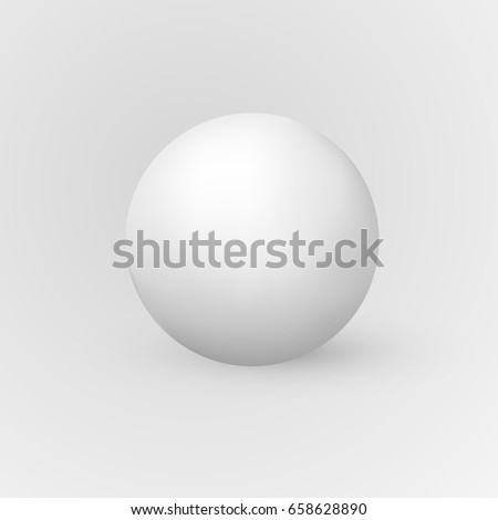 Vector 3d realistic sphere isolated on white. Ball illustration for logo, advertising design or web interface button.