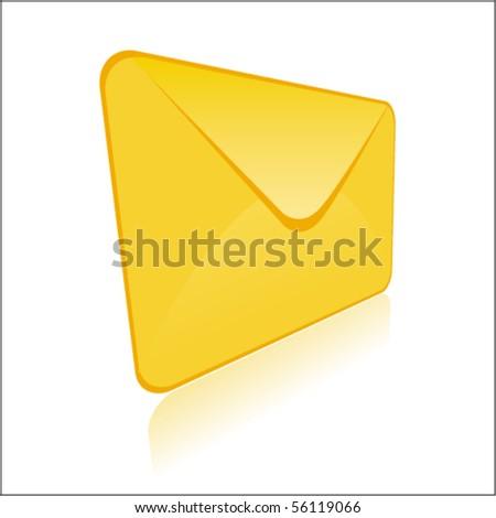 Vector 3d shiny envelope