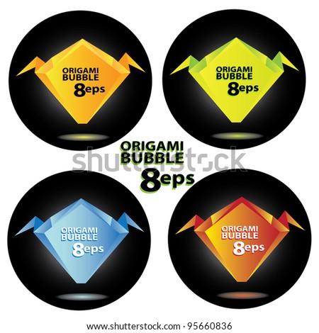 vector 3d speech bubbles set. Origami set. label annd tag collection.
