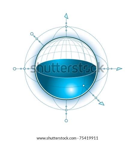 vector 3d symbol - stock vector