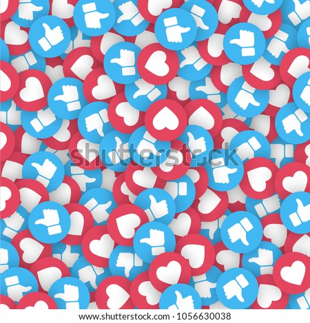Vector 3D Thumb Up Blue Icons Abstract Illustration Isolated on White Background. Design Elements for Web, Internet, App, Analytics, Promotion, Marketing, SMM, CEO, Business