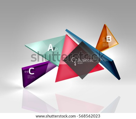 vector 3d triangle abstract