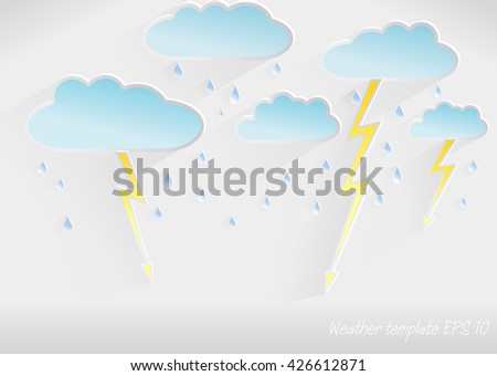 vector 3d weather template of