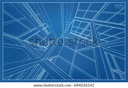 vector 3d wireframe structure