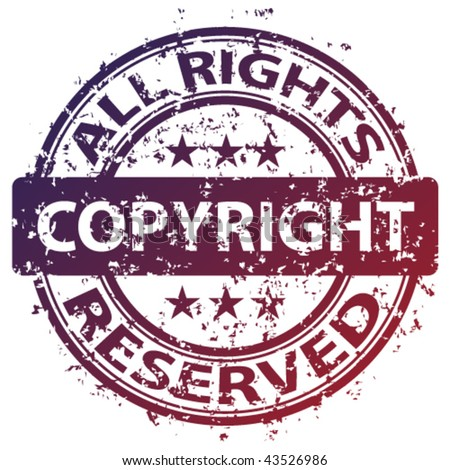 "vector damaged ""copyright"" stamp"