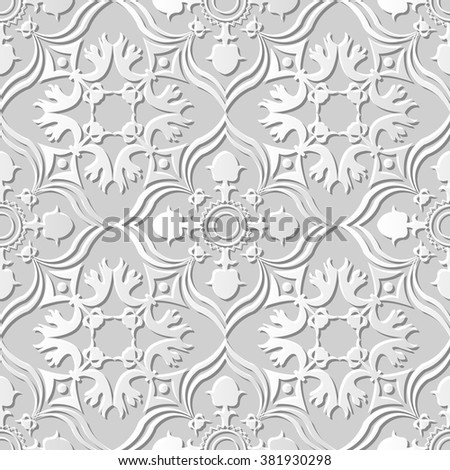 vector damask seamless 3d paper