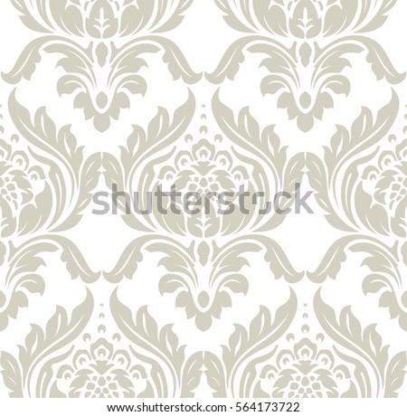 Vintage Damask Pattern Background Download Free Vector Art Stock