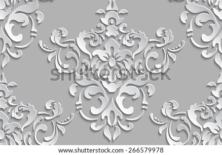 stock vector vector damask seamless pattern background elegant luxury texture for wallpapers backgrounds and 266579978 - Каталог — Фотообои «3D Текстуры»