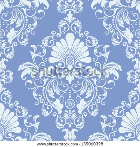 Vector damask seamless pattern element Elegant luxury texture for wallpapers backgrounds and page fill