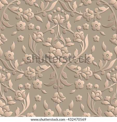 stock vector vector damask seamless pattern element elegant luxury texture for wallpapers backgrounds and page 432470569 - Каталог — Фотообои «3D Текстуры»