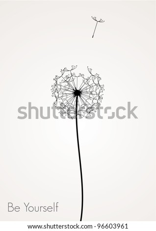 vector dandelion -  be yourself concept