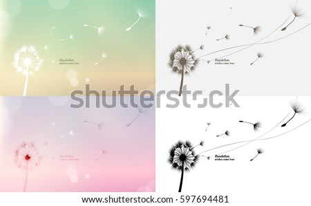 vector dandelion blowing