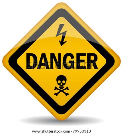 Vector danger warning sign, eps10