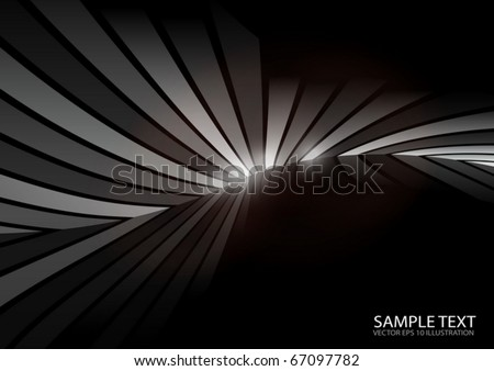 Vector dark abstract lined background - Vector dark background illustration