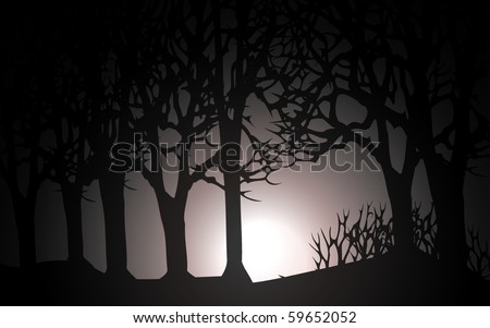 vector dark forest