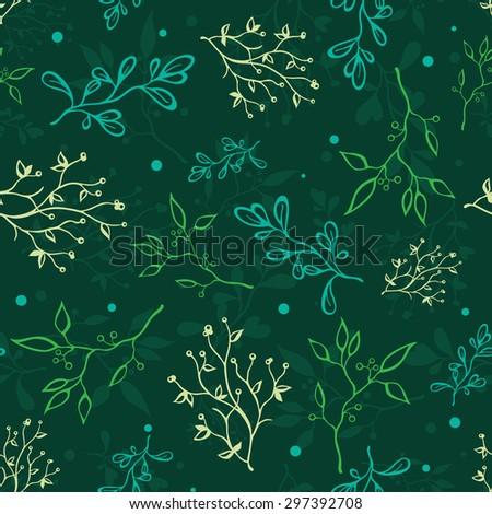 vector dark green spring