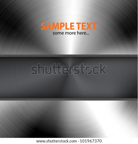 Vector dark metal background