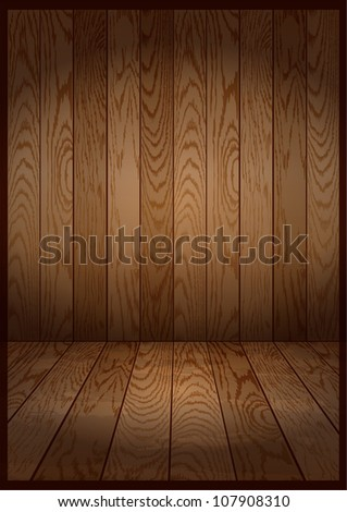 vector dark wooden interior room