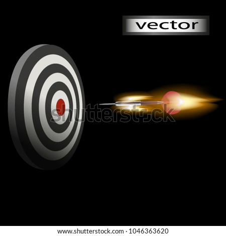 vector darts fiery game