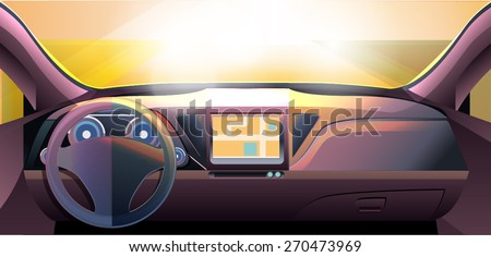 vector  dashboard car auto