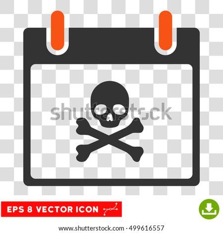 vector death skull calendar day