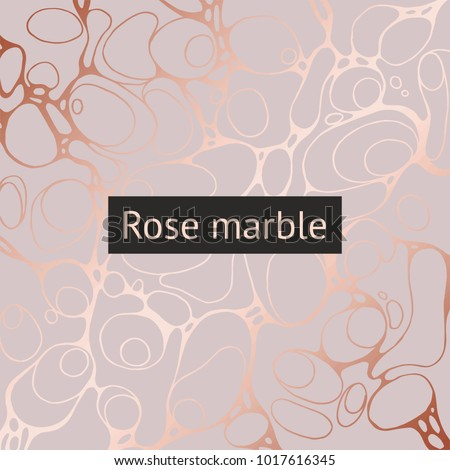 Vector decorative background with imitation of rose gold.