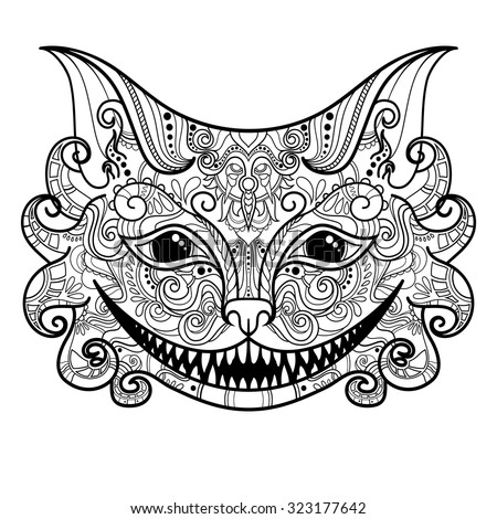 vector decorative cheshire cat