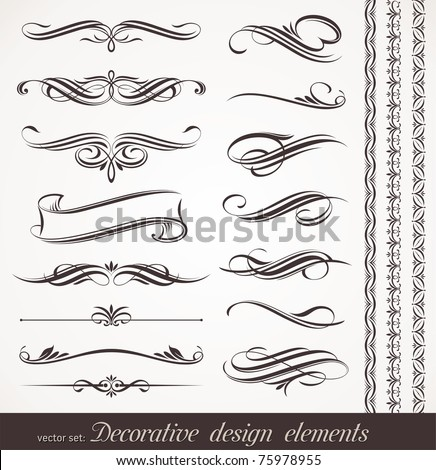 Vector decorative design elements & page decor - stock vector