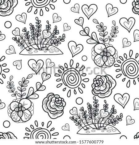 vector decorative flowerbed
