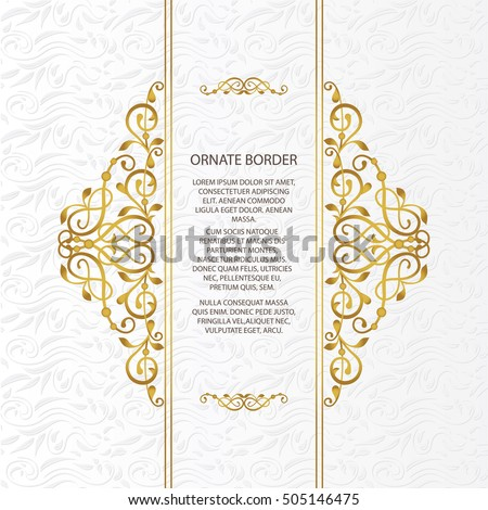Modern wedding card templates download free vector art stock vector decorative frame elegant element for design template place for textfloral border junglespirit Choice Image