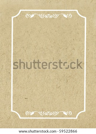 vector decorative frame on grunge background