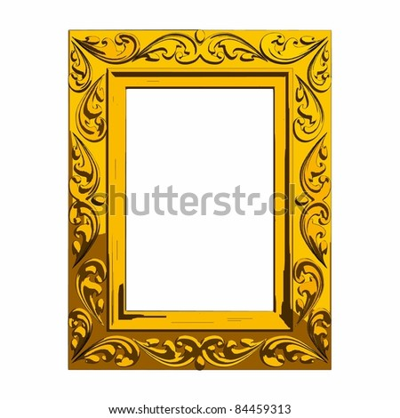 vector decorative frame over white background