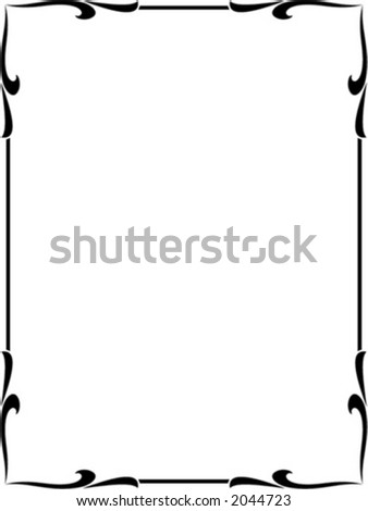 Vector decorative frame. This is a vector image - you can simply edit colors and shapes