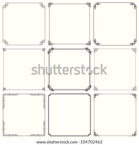 Vector decorative frames (set 23)