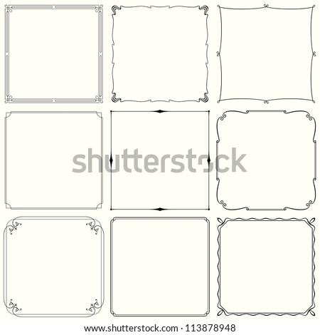 Vector decorative frames (set 33)