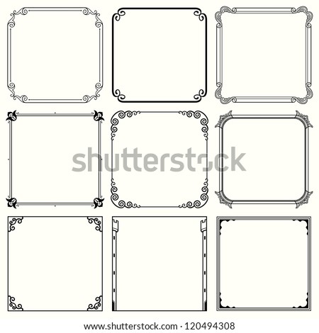 Vector decorative frames (set 42)