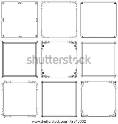 Vector decorative frames (set 7)