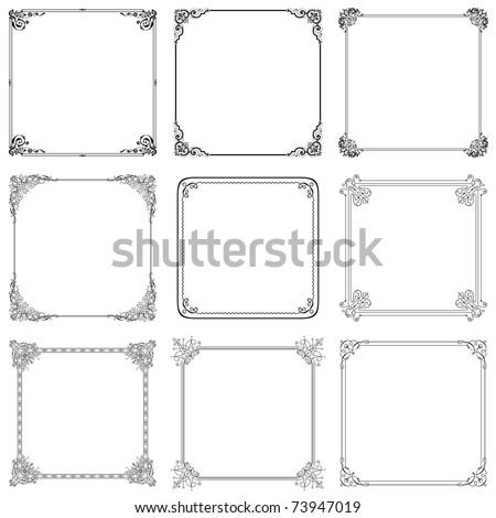 Vector decorative frames (set 9)