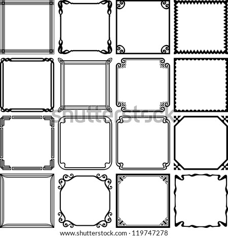 Vector decorative simple frames