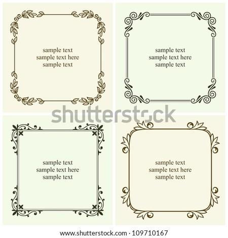Vector decorative text frames