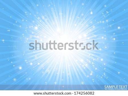 vector deep blue space star
