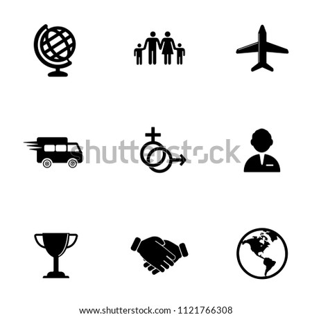 vector delivery, shipping, delivery and transportation icons set. global merchandise symbols