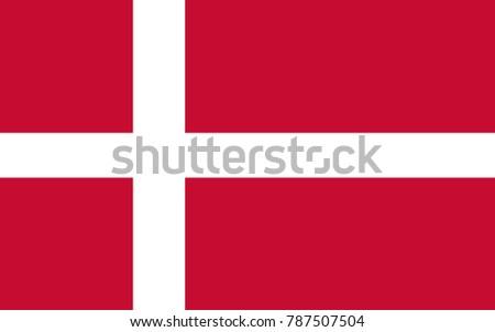 vector denmark flag  denmark