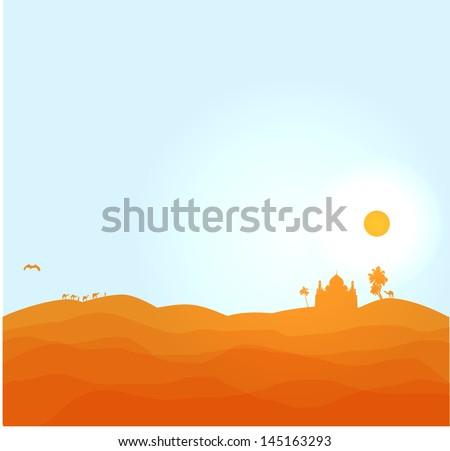 vector desert illustration