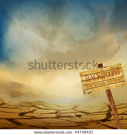 vector desert landscape with a