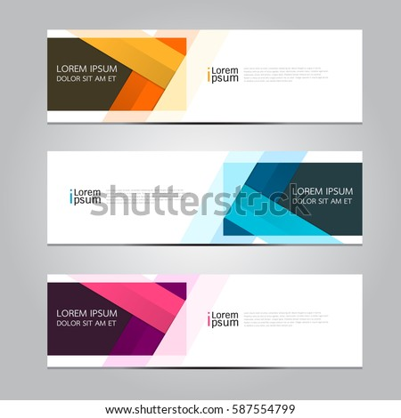 Vector design Banner background. #587554799
