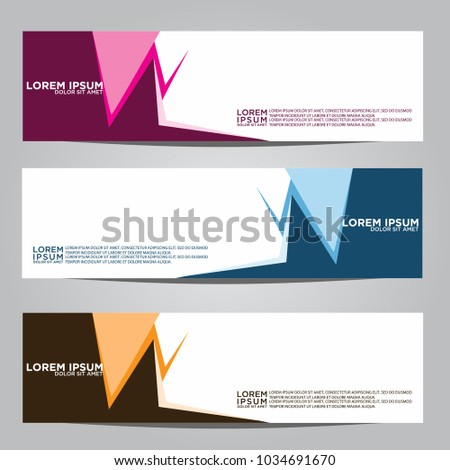 Vector design Banner backgrounds in three different colors. #1034691670