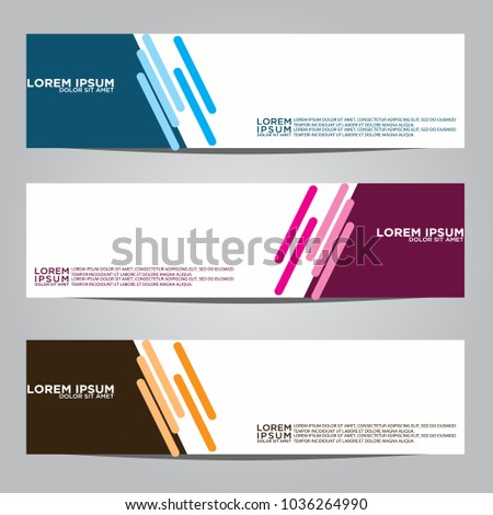 Vector design Banner backgrounds in three different colors. #1036264990